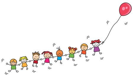 Enfants jouant au ballon Banque d'images - 40275096