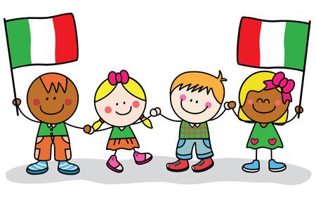 Kinderen uit Italië Stock Illustratie