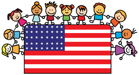 USA Kids Vector