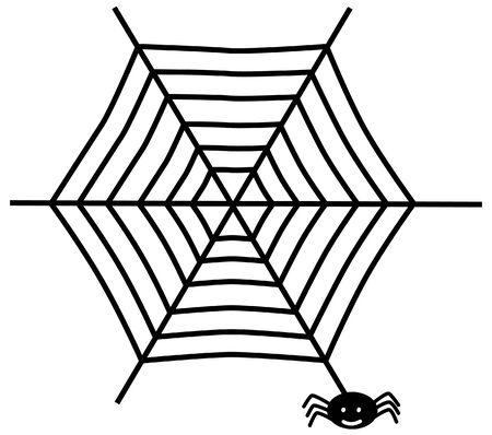 art vector: Spider web Illustration