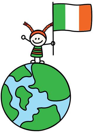 Ireland girl Vector