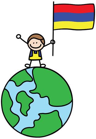 armenian: Armenian kid Illustration