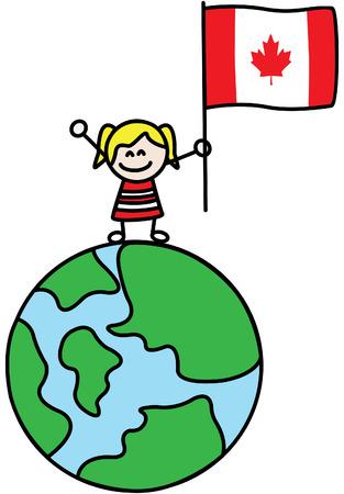 Canada girl Vector