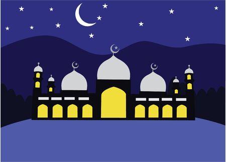 mosque: Mosque flat color