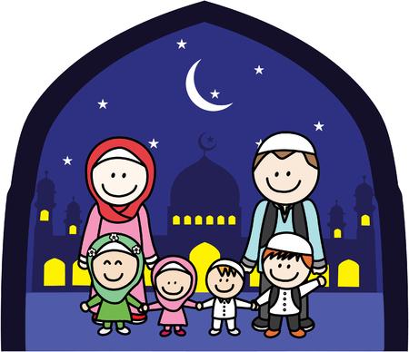 moslem: Muslim Family