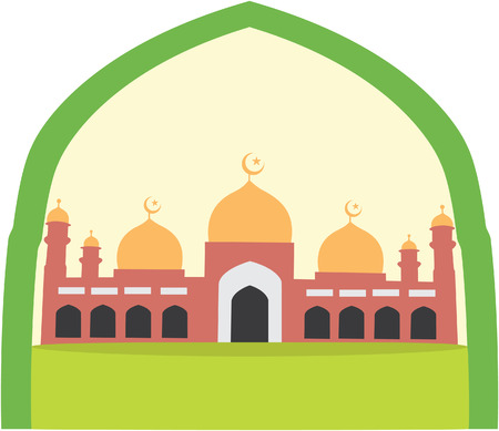religious backgrounds: Mosque Illustration