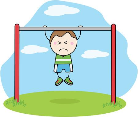 gimnasia: Boy Gimnasia Vectores