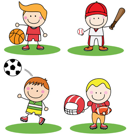 group of kids: Kids sport collection