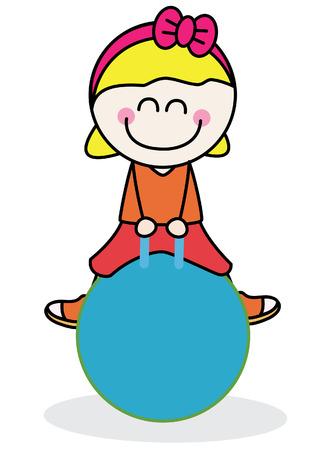 pilates ball: fitness Ball Illustration