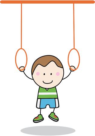 young gymnastics: Boy Gymnastic