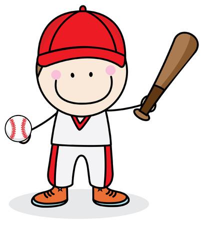 teenagers learning: Boy baseball player