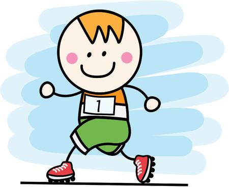 shoes vector: Runner boy
