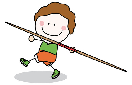 javelin: Throwing sport Illustration