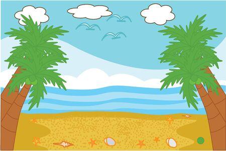 beach panorama: Beach panorama