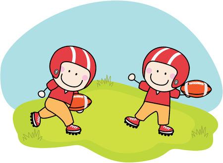 happy kids cartoon: American football
