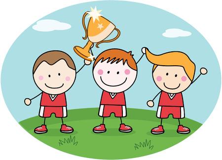 success: Winner kids team Illustration