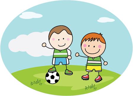 kids football: Football kids playing at park