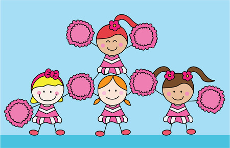 pom pom: Girl cheerleader
