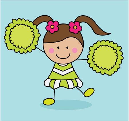 porrista: Traje verde chica animadora