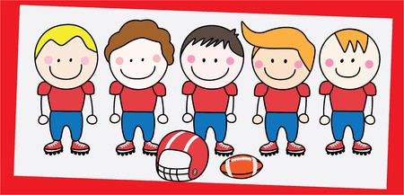 kids football: american football team