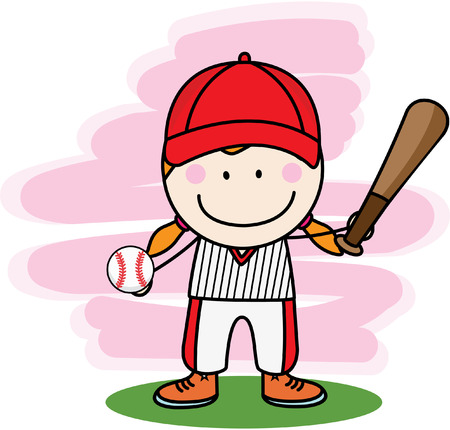 little league: Baseball player boy  Image ID: 304964852 Illustration