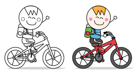 biking: boy bicycle