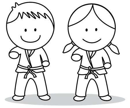 Karate kids Illustration