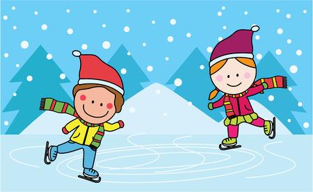 skating: Ice skating kids