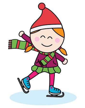 little skate: Ice skating girl