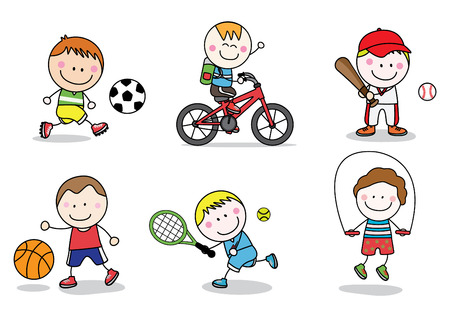 Kids sport collection 版權商用圖片 - 45056281