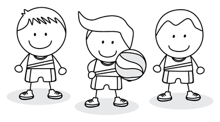 black boys: Basket ball team