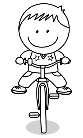 black boys: Biker boy Illustration