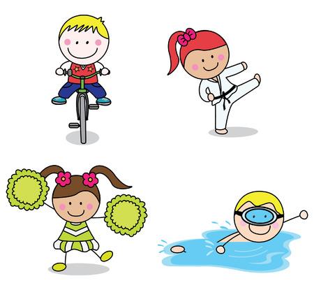 porrista: Niños colección deportiva