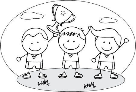 trophies: Kids winner Illustration
