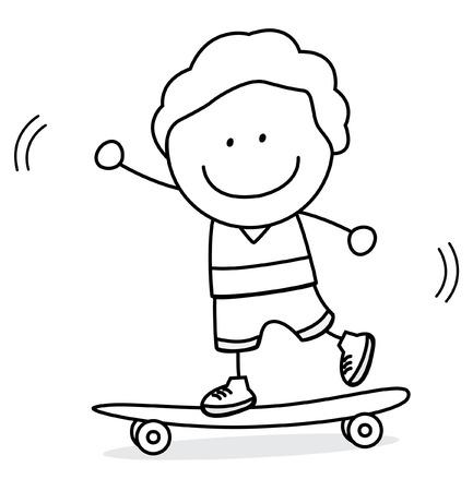 skate board: Skate board boy Illustration