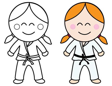 girl fight: Karate girl