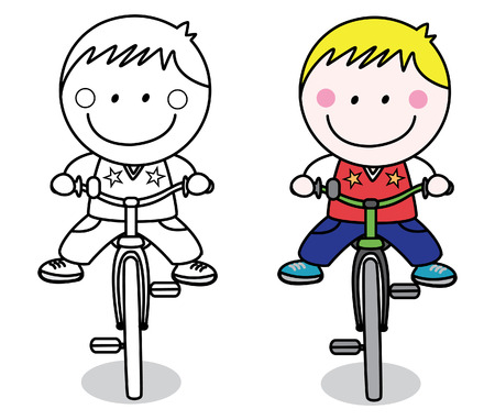 cartoon biker: Biker boy Illustration