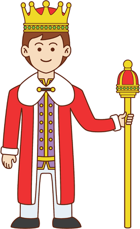 cartoon king: King doodle cartoon design illustration
