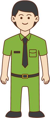 director de escuela: Garabato director de dise�o de dibujos animados ilustraci�n