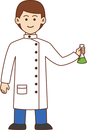 science lab: Scientist doodle cartoon design illustration