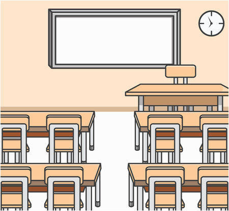 school classroom: Classroom Doodle Illustration cartoon