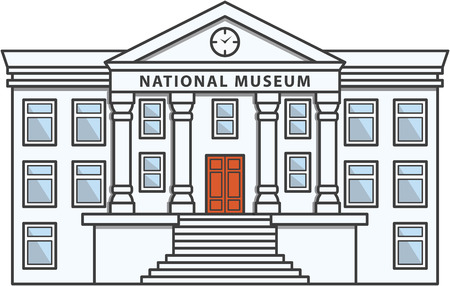 Museum Building Doodle Illustration cartoon