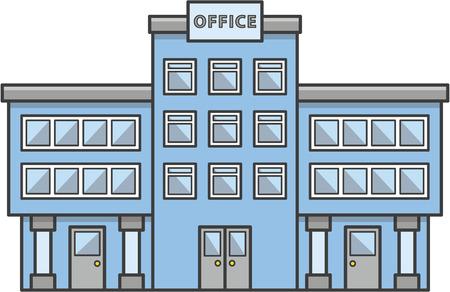 Office building Doodle Illustration cartoon 일러스트