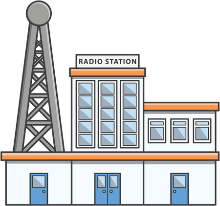 radio station: Radio station Doodle Illustration cartoon Illustration