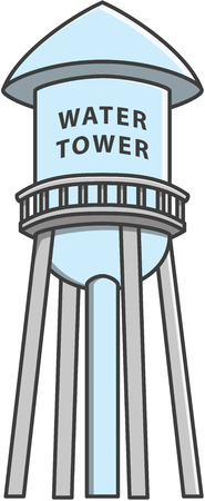 tanks: Water tower Doodle Illustration cartoon