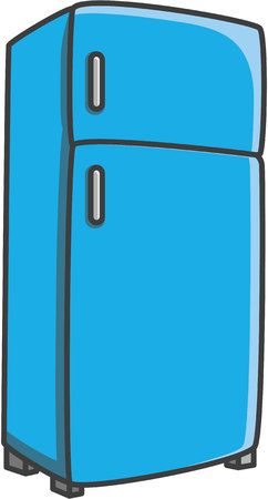 Refrigerator vector cartoon illustration Illustration