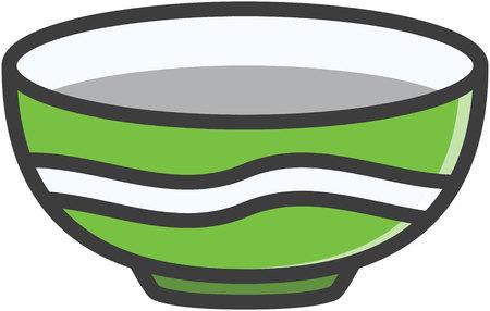 clean kitchen: Bowl vector cartoon illustration Illustration