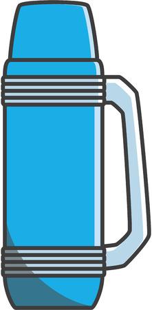 thermos: Thermos vector cartoon illustration Illustration