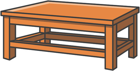 Dinning table vector cartoon illustration