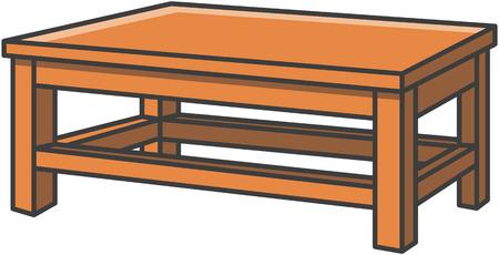 Dinning table vector cartoon illustration